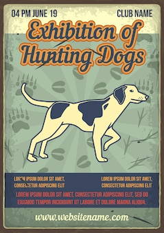 Exhibition of hunting dogs