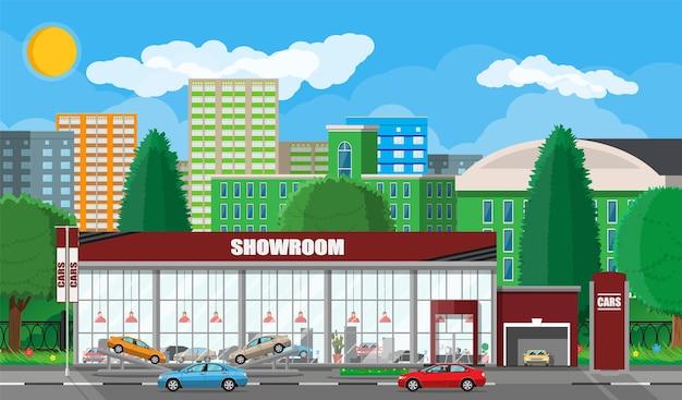 Exhibition pavilion or dealership