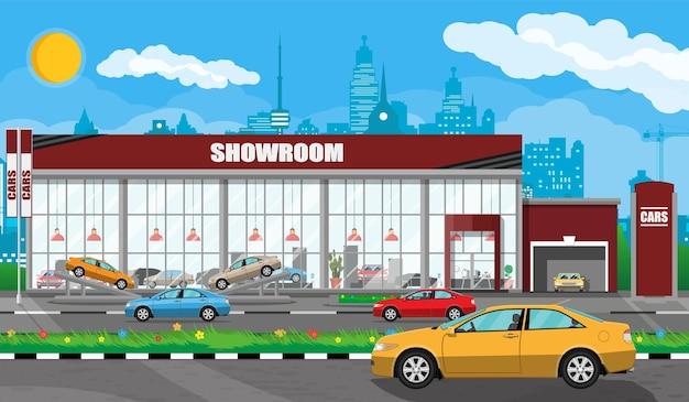 Exhibition pavilion, showroom or dealership
