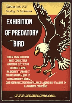 Exhibition of predatory bird