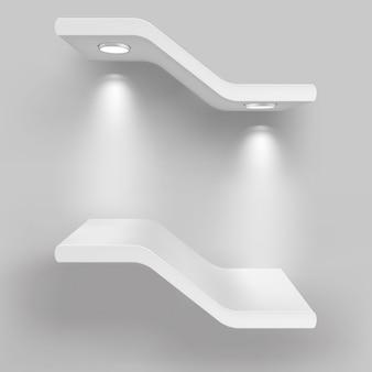 Выставочные полки с источниками света