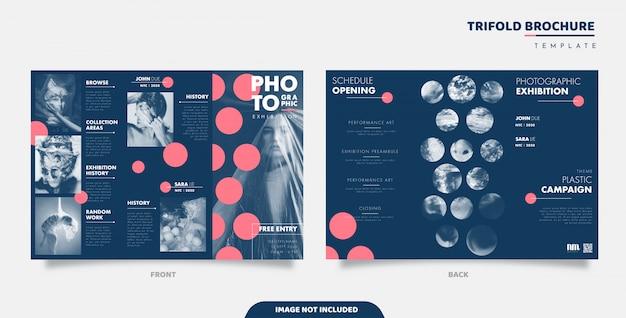 Exhibition trifold brochure design
