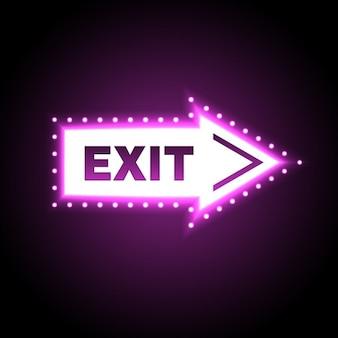 Exit light signboard arrow shaped