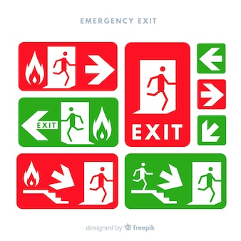 Exit sign collection