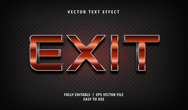 Exit text effect, editable text style