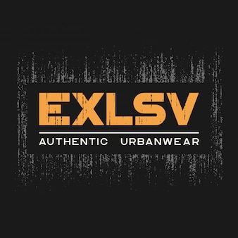 Exlsv tshirt and apparel  with grunge effect and textured