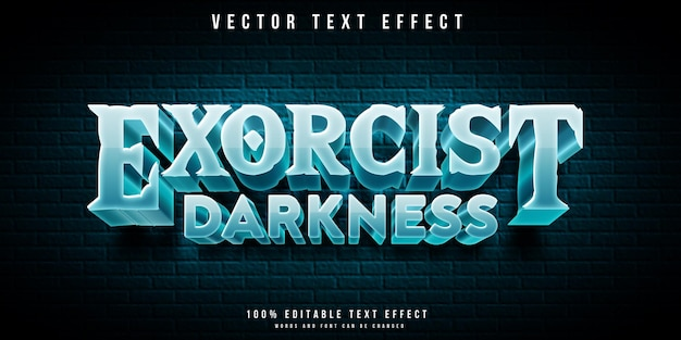 Exorcist darkness editable 3d text effect