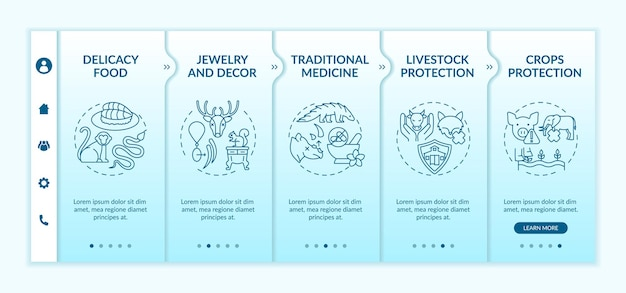 Exotic animal abuse onboarding template illustration