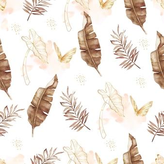 이국적인 단풍 원활한 패턴 배경 그림