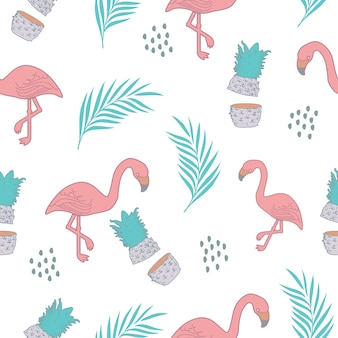 Exotic background pattern with summer theme