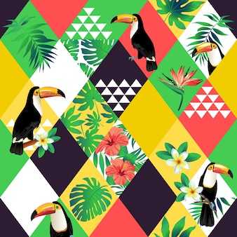 Exotic beach seamless pattern