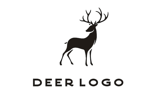 Exotic beauty deer logo design