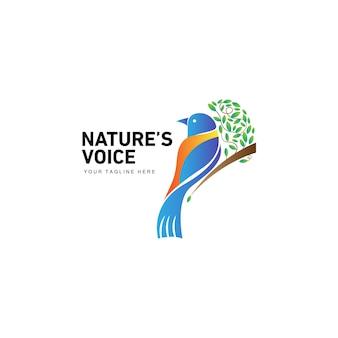 Exotic bird nature leaf logo