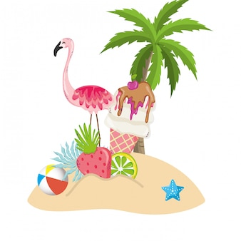 Exotic bird and summer