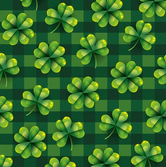 Exotic clover plant with leaves background