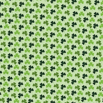 Exotic clovers plants with leaves background