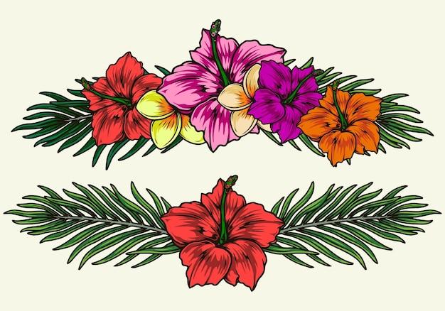 Экзотические красочные цветы изолированные