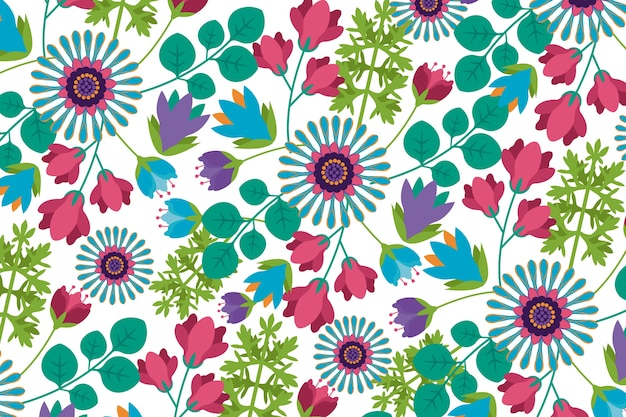Exotic floral background