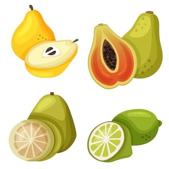 Exotic fruit papaya quince