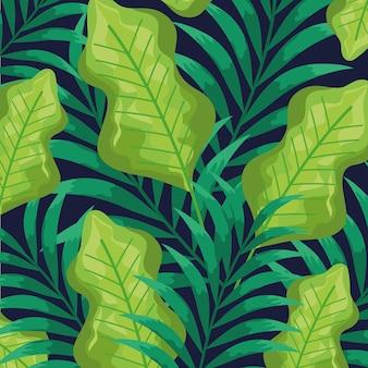 エキゾチックな葉の自然パターンの背景