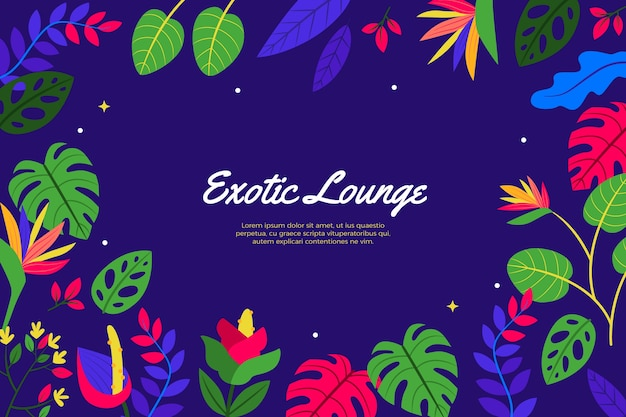 Exotic lounge green foliage background