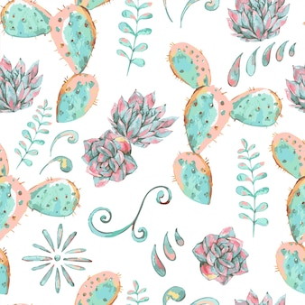 Exotic natural vintage seamless pattern