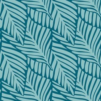 Бесшовный узор из экзотических растений. тропический узор, пальмовые листья бесшовные векторные цветочный фон.