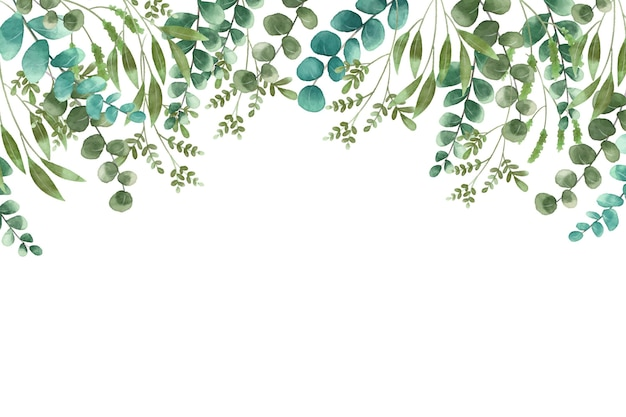 Exotic plants on white copy space background