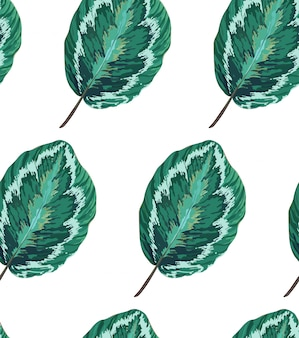 Exotic seamless pattern with leaves. botanic texture.