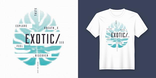 トロピカルスタイルのエキゾチックなtシャツとアパレルのモダンなデザイン