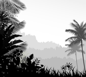 Exotic tropical background beautiful