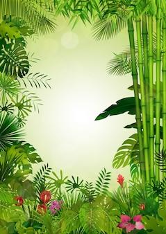 Экзотический тропический фон