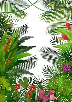Exotic tropical forest background