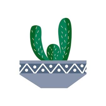 Экзотическое тропическое комнатное растение в цветочном горшке. плоские красочные векторные иллюстрации.