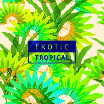 Exotic tropical leaves pattern