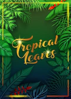 エキゾチックな熱帯の葉