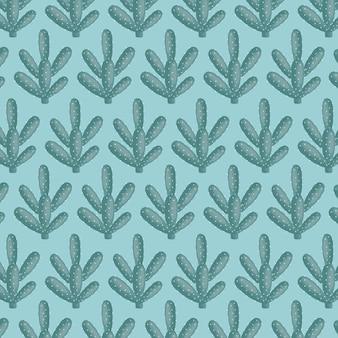 이국적인 선인장 식물 자연 패턴
