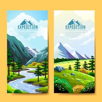 Дизайн шаблона баннера экспедиции