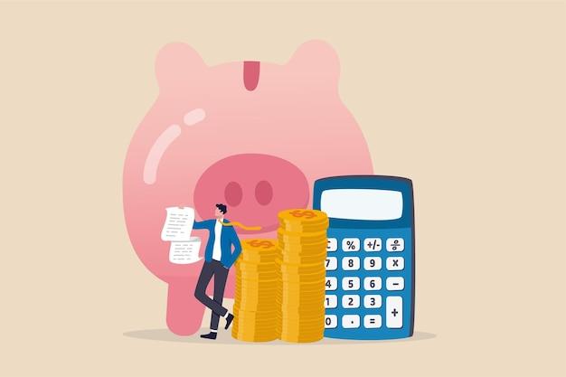 費用と費用の計算、投資顧問または財務計画。