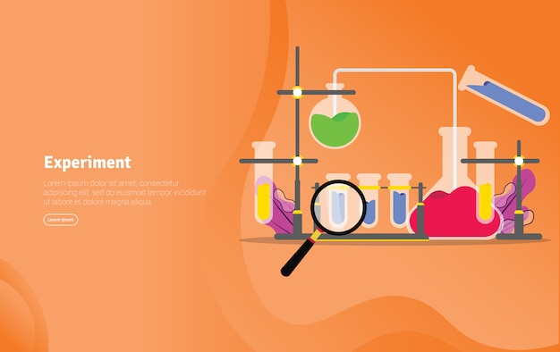 Experiment concept scientific illustration banner