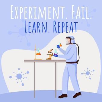 Experiment, fail, learn and repeat social media post mockup.