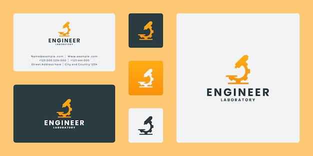 実験メカニックエンジニアリングのロゴデザイン