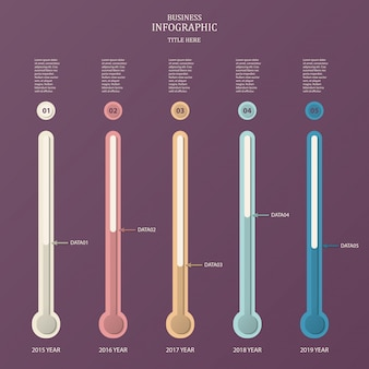 Experiment tube, infographic template for business. vector for time line concept.
