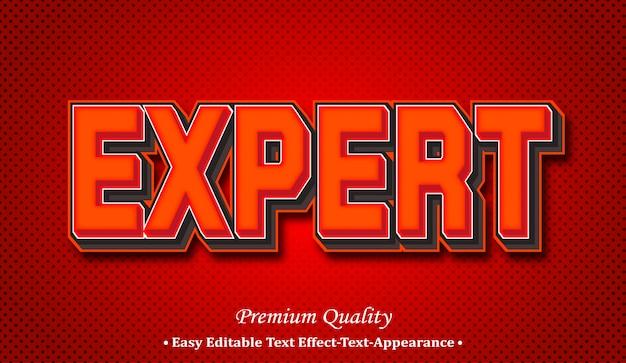Expert 3d font style effect