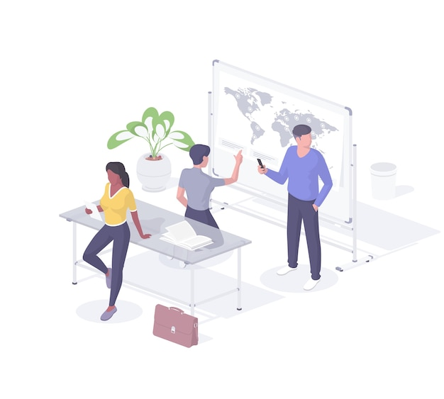 Experts explore online coverage areas isometric concept