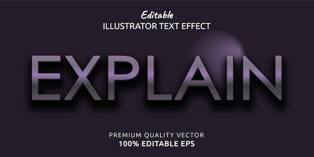 Explain editable text style effect