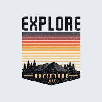Красочный логотип explore badge