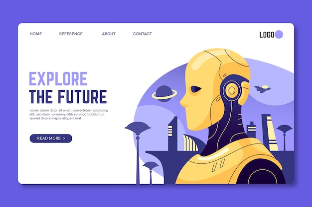 Explore the future seo landing page template