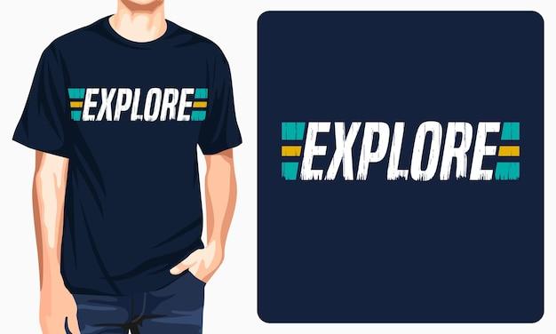 Explore - графическая футболка для печати