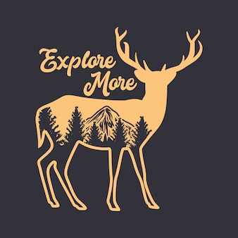Explore more quote with deer silhouette